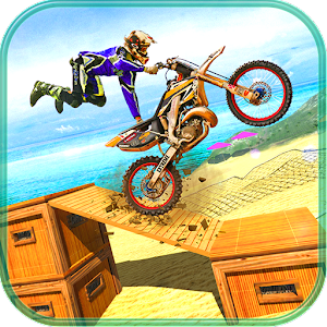 Motocross Tricky Bike Beach Jumping: Stunt Master