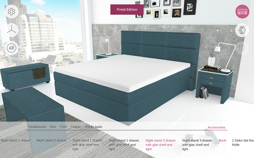 FEY boxspring configurator - screenshot
