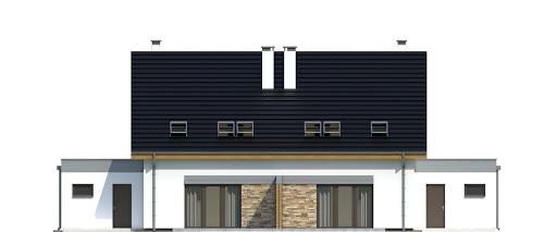 Azalia z garażem 1-st. bliźniak A-BL1 - Elewacja tylna