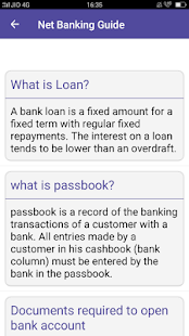 Net Banking Guide- screenshot thumbnail