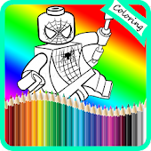 Coloring Lego Superhero Books