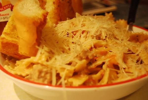My Creamy Sundried Tomato Farfalle And Sausage (pasta Dish)