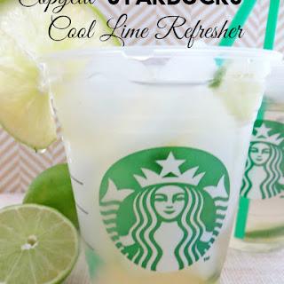 Copycat Starbucks Cool Lime Refresher.