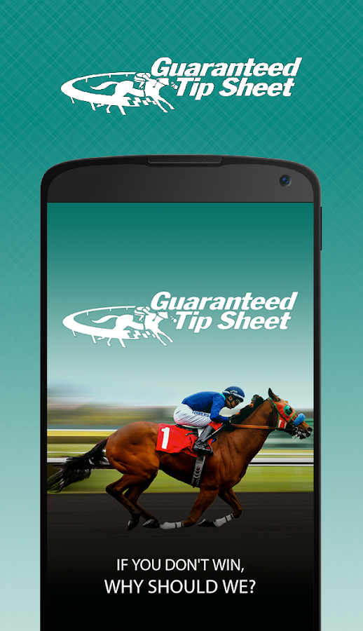 Guaranteed Tip Sheet - Horse Racing Picks- screenshot