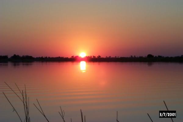 Sunset on Xobega lagoon