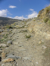 Photo: Trail from Capileira along the Barranco (Gourge) de (River) Poqueria from  Capileira