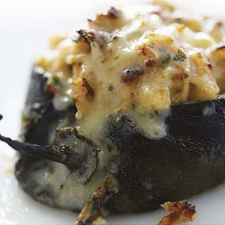 Poblanos Stuffed with Cheddar and Chicken.