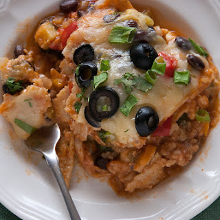 Lightened Up Roasted Veggie Mexican Lasagna