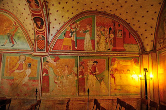 Photo: Italy, Lombardia, Province Pavia, Valle Staffora, Ponte Nizza, Hamlet Butrio, frescoes inside the Hermitage of Sant' Alberto di Butrio, X Century, 687 m. a.s.l. (2287 Feet).
