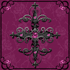 Ruby Pink Gothic Cross Go Launcher Theme icon