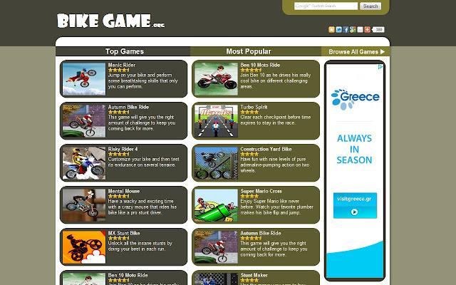 Bike Games Chrome Web Store