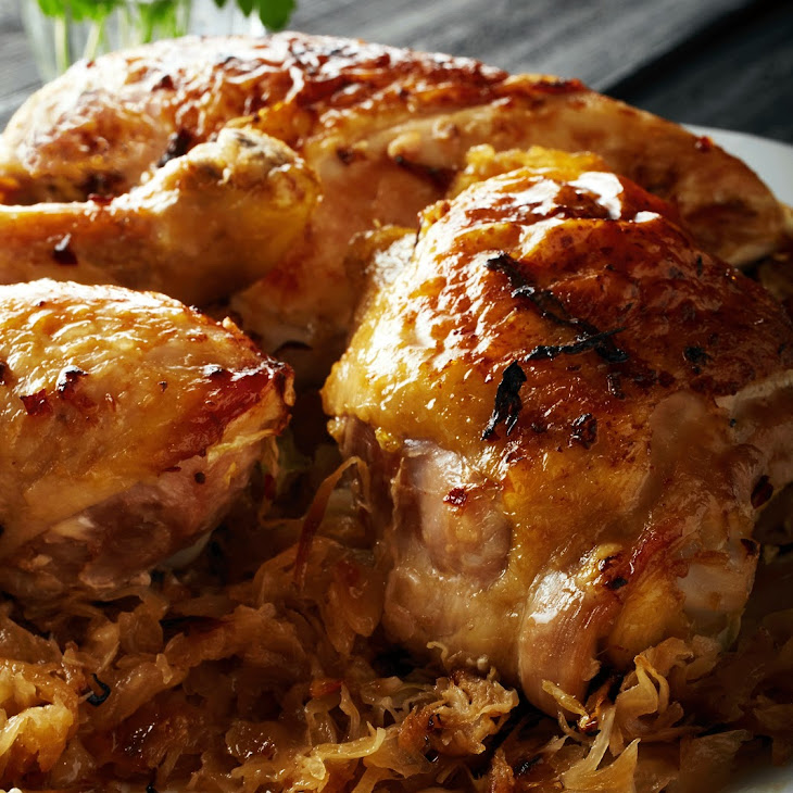 Roasted Chicken with Cabbage Recipe