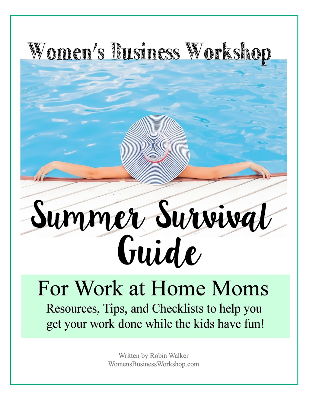 work at home this summer with kids!