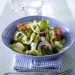 Greek Salad with Avocado.