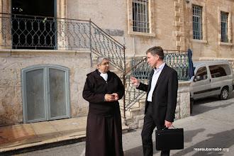 Photo: Rencontre au Collège des Frères à Jérusalem