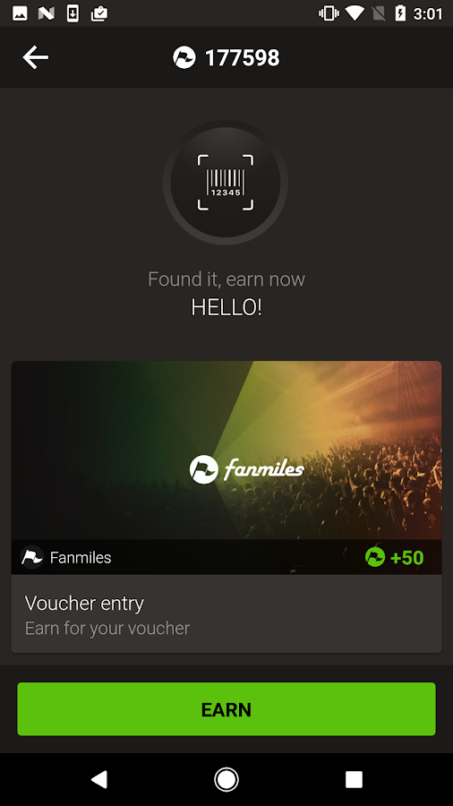 Fanmiles - Earn fan rewards- screenshot