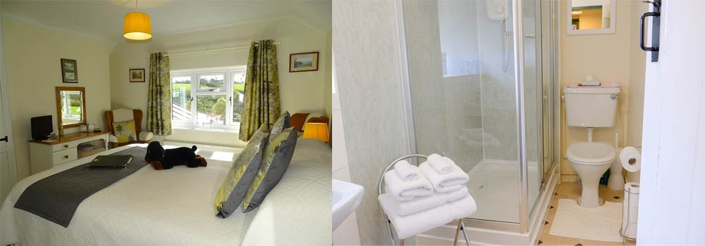 Beautiful shots of the Marwood room at West Down Guest House in North Devon