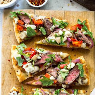 Easy Steak Gorgonzola Flatbread.