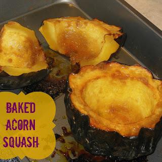 Baked Acorn Squash.