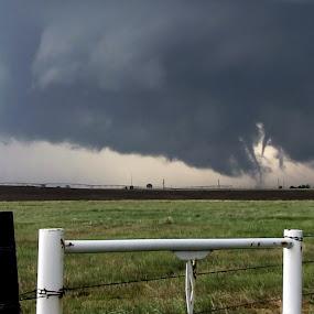 Kansas Tornado Family by Erik Burns - Landscapes Weather ( weather, supercell, storms, tornado )