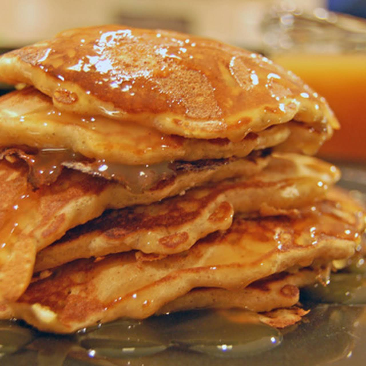 Gingerbread Pancakes with Sweet Cider Syrup
