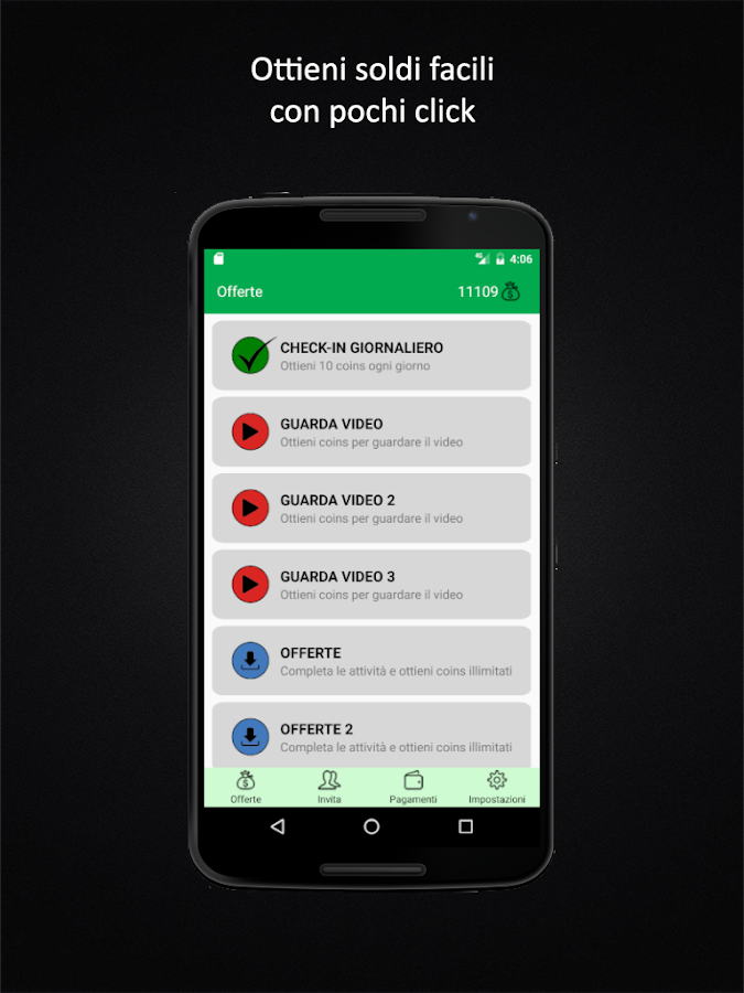 Fare Soldi  Guadagna Denaro  screenshot Google Play