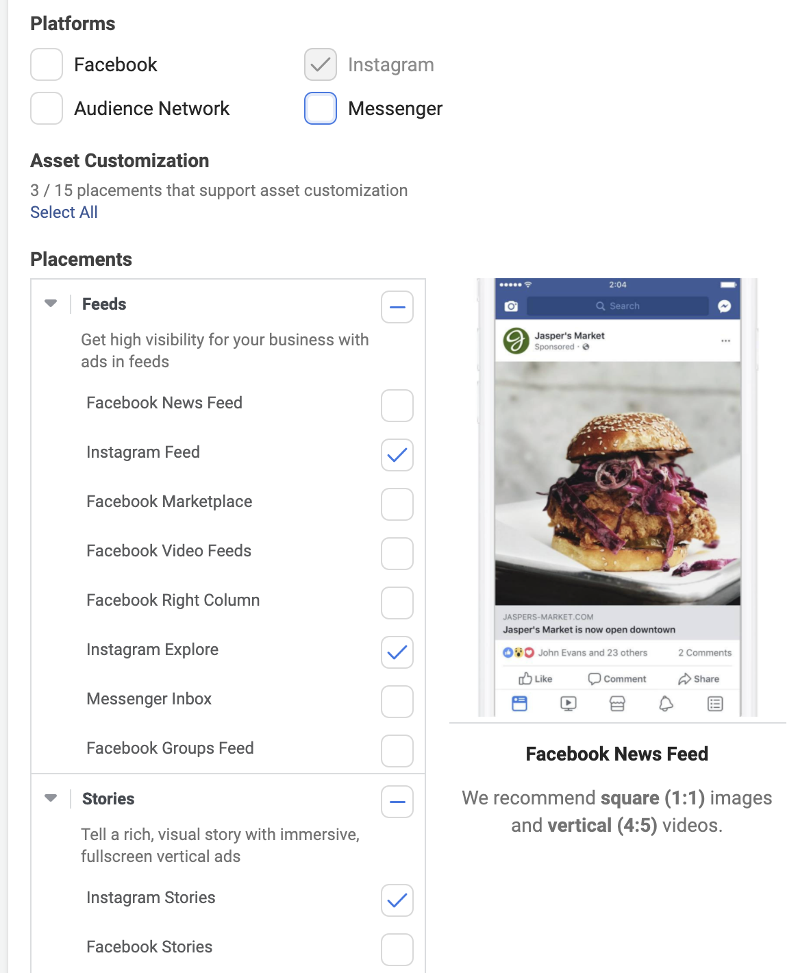 how to use instagram ads manager on facebook