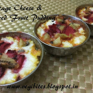Cottage Cheese and Mixed Fruit Pudding.