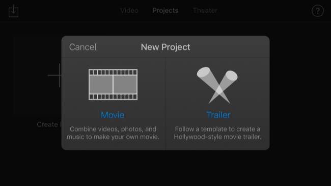 Image result for iMovie select trailer