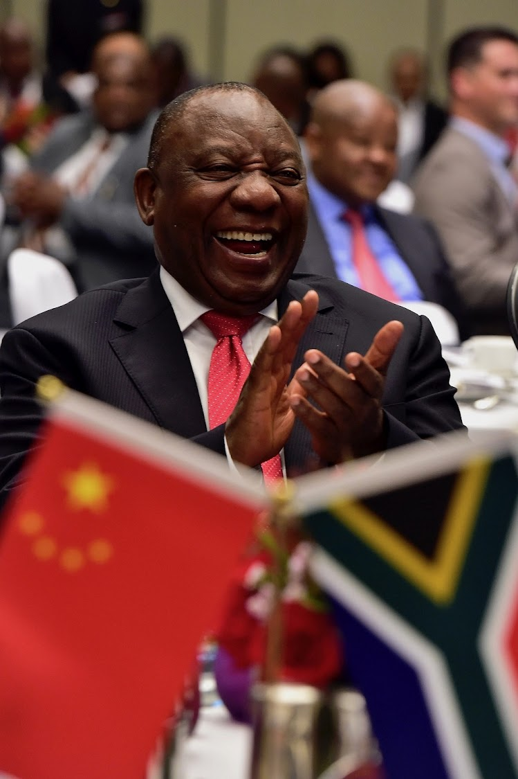 President Cyril Ramaphosa addresses business leaders at a business breakfast in Beijing, the People's Republic of China, ahead of the state visit and the Forum of China-Africa Cooperation.