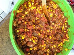 In a large mixing bowl, mix together the meat mixture and all of the...