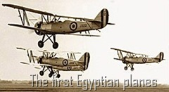 The first Egyptian planes