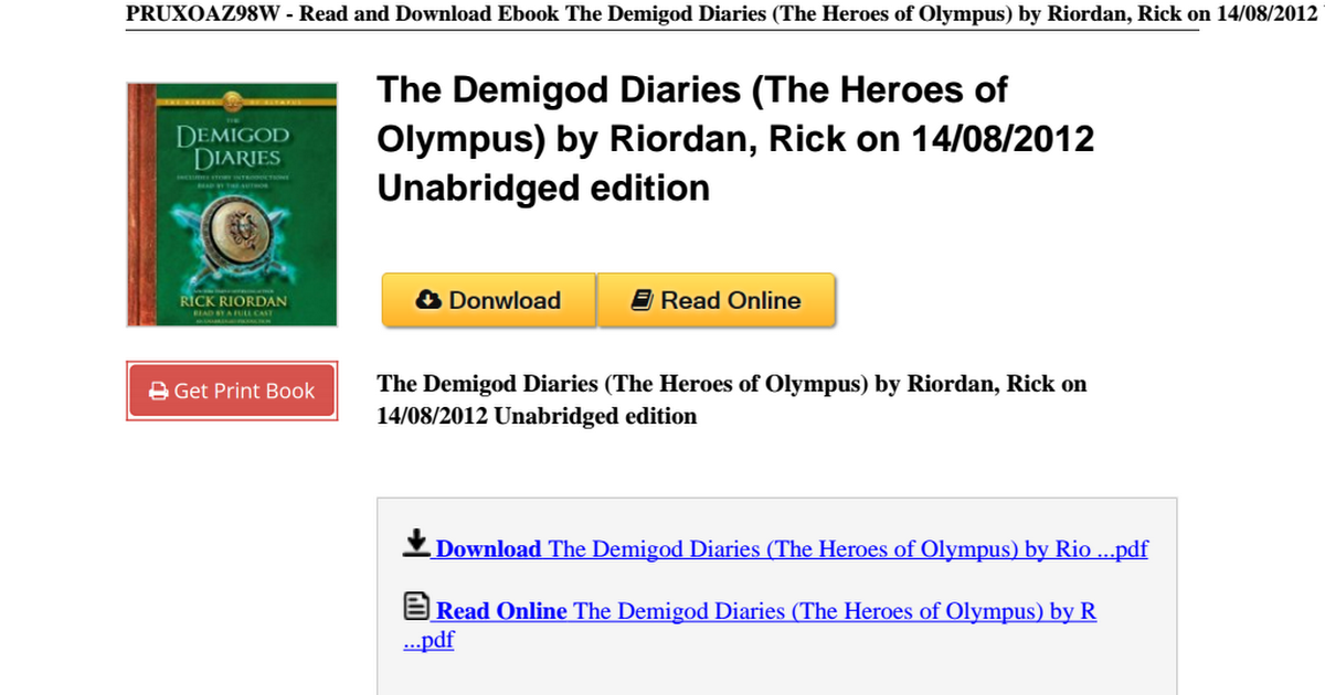 download demigod diaries pdf