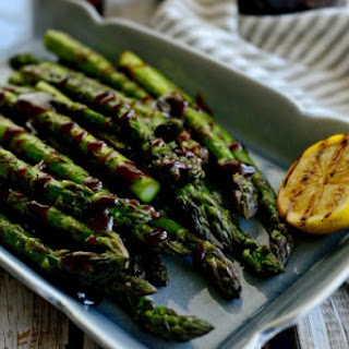 Grilled Asparagus with Balsamic Honey-Dijon Vinaigrette Recipe