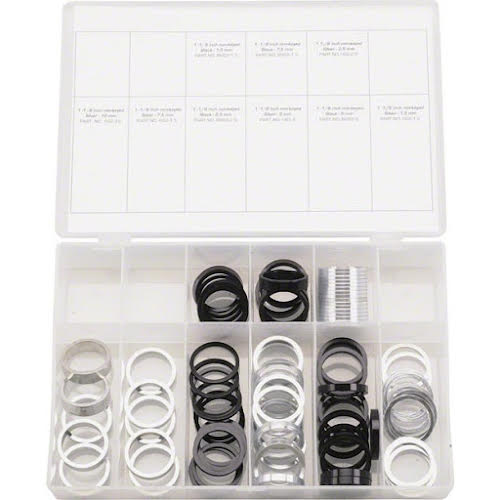 "Wheels MFG 1-1/8"" Headset Spacer Kit 103 Pieces"
