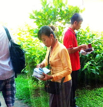 Photo: Mekong Express guide held onto all our passports during the trip.