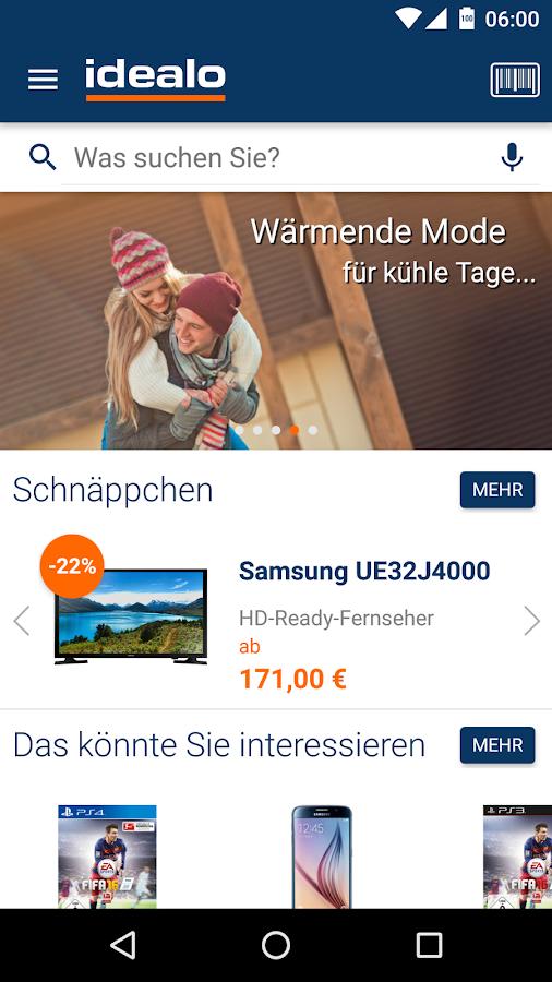 idealo Preisvergleich Shopping – Screenshot