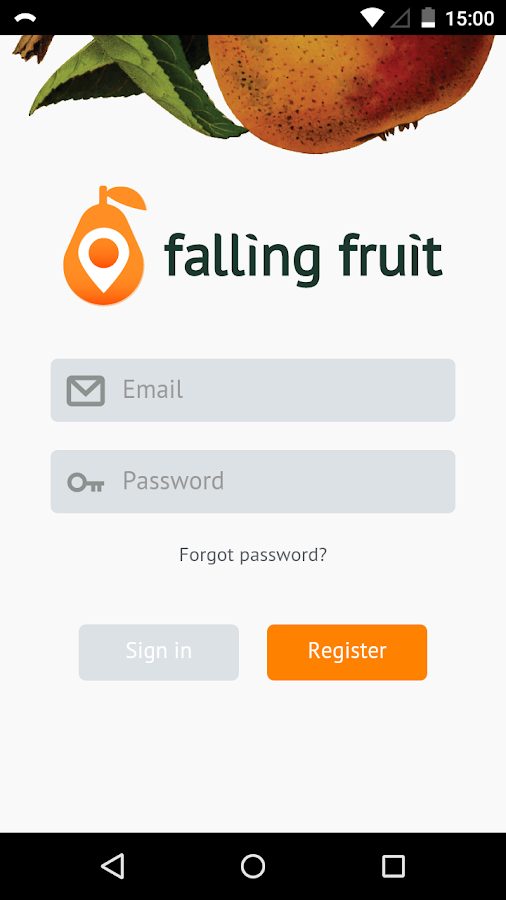 Falling Fruit- screenshot