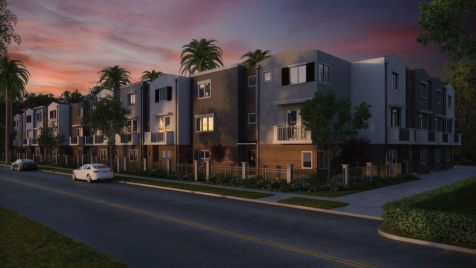 Condominium, Buildings, Exteriors, Facades, Street