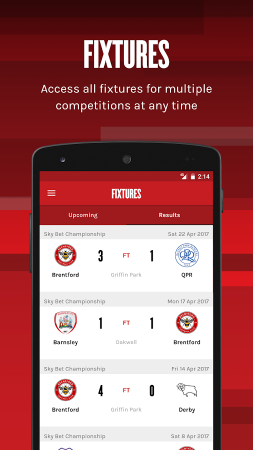 Brentford Football Club- screenshot