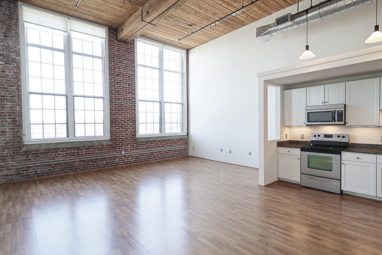 S Floorplan (Studio)   The Riverwalk Lofts Apartments in Lawrence