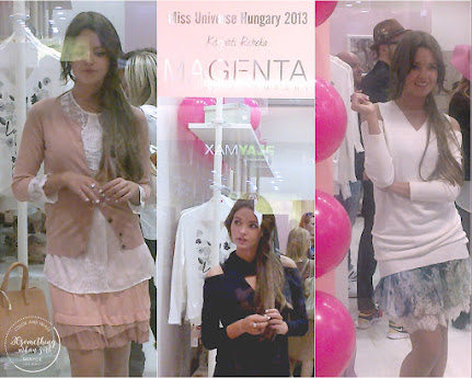 Miss Universe Hungary 2013 in the MAGENTA store Budapest