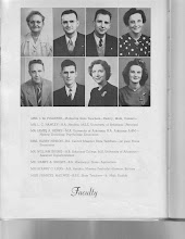 Photo: Faculty: Mrs.I.M.Fulkerth, Mr.L.C.Hawley, Mr.James A. Henry, Mrs.Harry Hinson, Mr.William Irving, Mr.Harry A.Knight, Miss Fanny C.Legg, Miss Frances McElwee Mrs.I. M. Fulkerth-Platteville State Teachers-1947 FCHS Faculty Lewis Chamberlain Hawley-B.A.Hendrix, M.S.E. Univ. of Arkansas-1947 FCHS Faculty James A. Henry-M.A. Univ. of Arkansas, B.A. Arkansas A. & M.-1947 FCHS Faculty Mrs.Harry Hinson-B.S.Central Missouri State Teachers-1947 FCHS Faculty William Irving-A.B. Arkansas College-M.S. Univ.of Arkansas-1947 FCHS Faculty Harry A.Knight-B.S. Mississippi State-Agrictulture-1947 FCHS Faculty Miss Fanny C. Legg-A.B.Hendrix, Masters Peabody-1947 FCHS Faculty Miss Frances McElwee-B.S.E. State Teachers