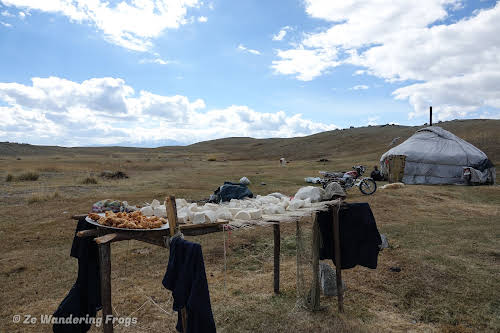 Mongolia Altai Mountains Trekking Altai Tavan Bogd National Park // The ger of our guide