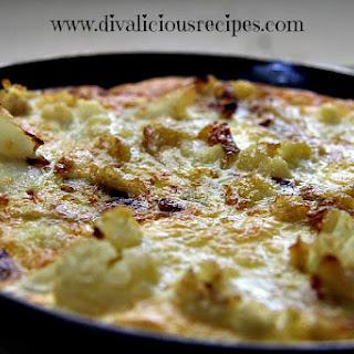 Cauliflower & Caramalized Onion Frittata.