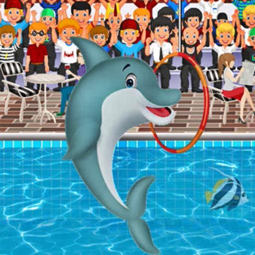 Dolphin Show in Aquarium Free