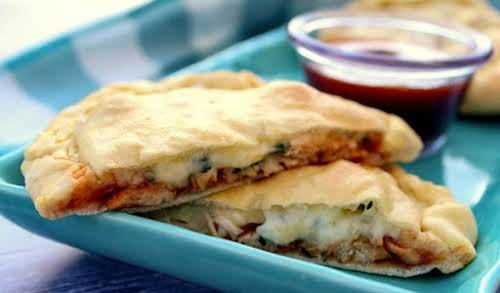 "Click Here for Recipe: Easy Cheat Bar Be Que Chicken Calzones""This is..."
