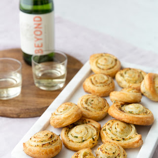 Flaky Garlic Bread Pinwheels.