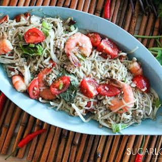 Thai Noodle Shrimp Spicy Salad.