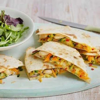 Courgette And White Bean Quesadillas
